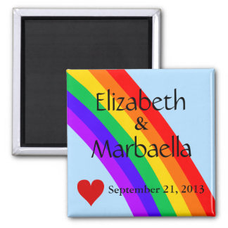 Rainbow and Heart Refrigerator Magnets