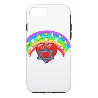 Rainbow and Jewish Stars iPhone 7 Case