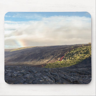 Rainbow and Lava Flow Mouse Pad