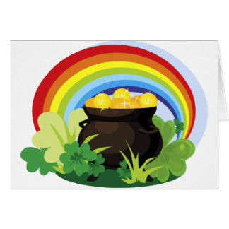 Rainbow And Pot Of Gold Greeting Card
