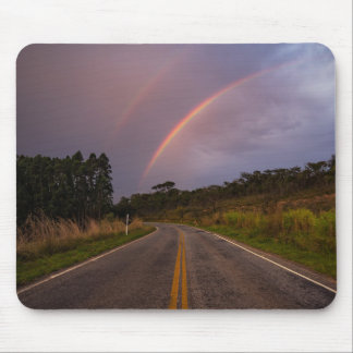 Rainbow And Road Mouse Pad