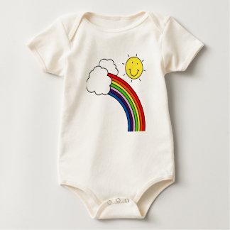 RAINBOW AND SUNSHINE BABY BODYSUITS