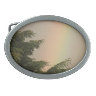 Rainbow and Trees Belt Buckle