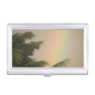 Rainbow and Trees Business Card Holder