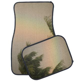 Rainbow and Trees Car Mat Set