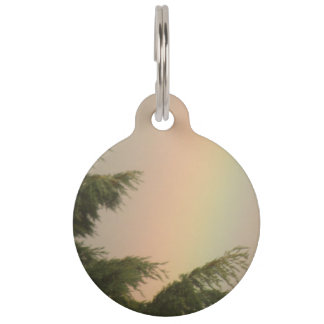 Rainbow and Trees Custom Dog Tag