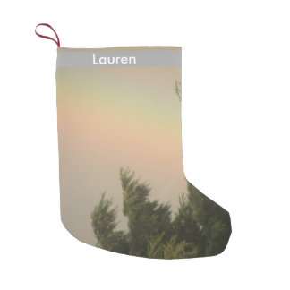Rainbow and Trees Custom Stocking
