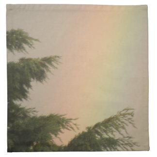 Rainbow and Trees Napkin
