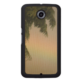 Rainbow and Trees Wooden Phone Case