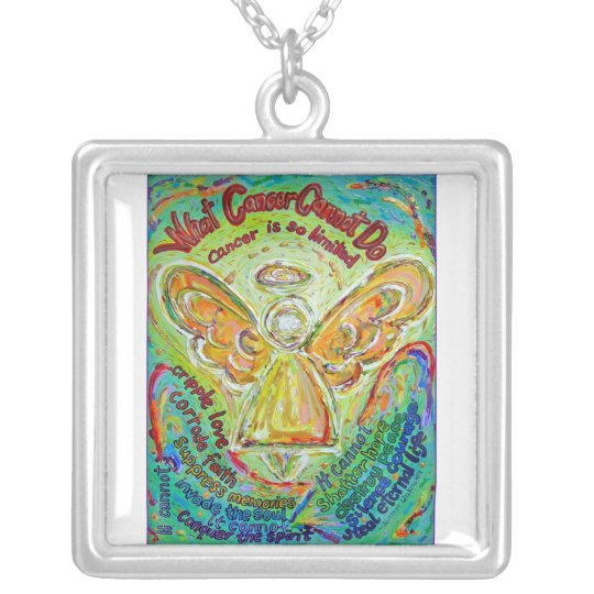 Rainbow Angel Cancer Cannot Necklace Jewellery