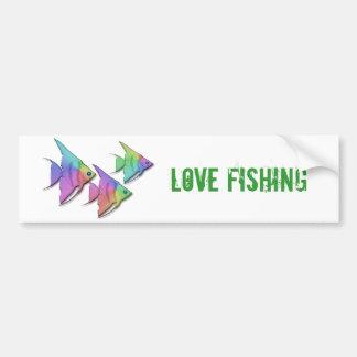 Rainbow Angel Fish Car Bumper Sticker