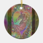 Rainbow Angel with Hearts Christmas Tree Ornament