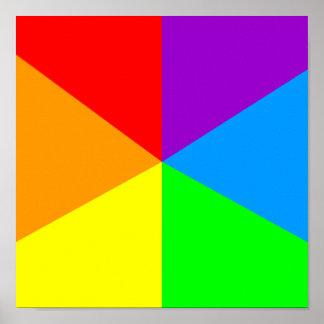 Rainbow Angles Print