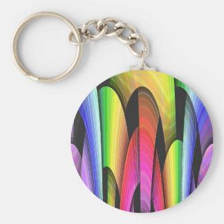 Rainbow Arch Basic Round Button Key Ring