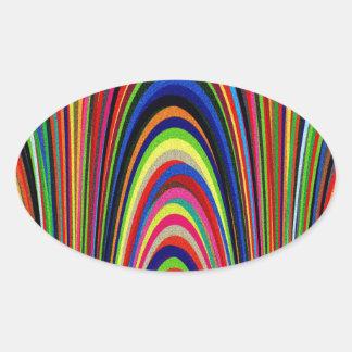 Rainbow Arches Oval Sticker