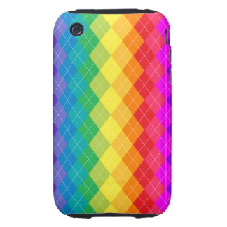 Rainbow Argyle Pattern Tough iPhone 3 Cover