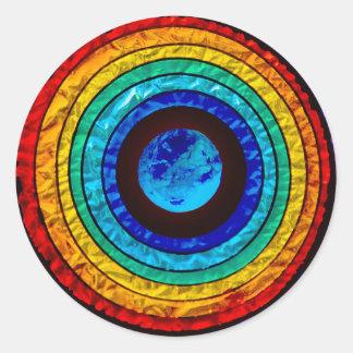 Rainbow around the Earth Sticker