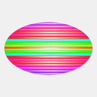 Rainbow Art Oval Sticker