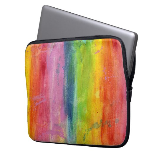 Rainbow art paint stripe arty colourful laptop laptop