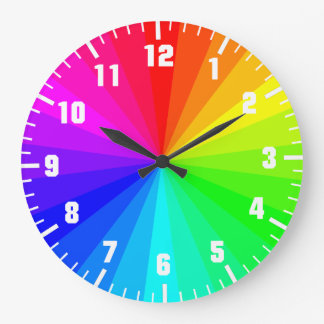 Rainbow art wheel wallclocks