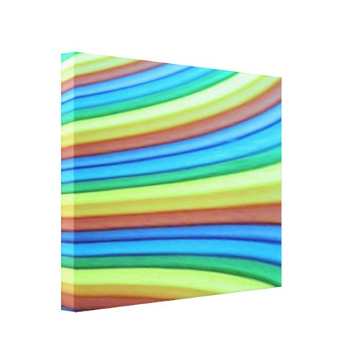 Rainbow Art Wrapped Canvas Print