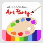 Rainbow Artist Palette Painting Birthday Party