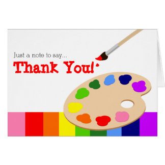 Rainbow Artist Palette Thank You Card