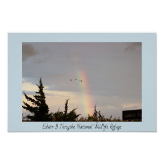 Rainbow at the Refuge Poster