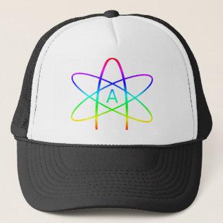 Rainbow Atheist Symbol Trucker Hat