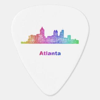 Rainbow Atlanta skyline Guitar Pick