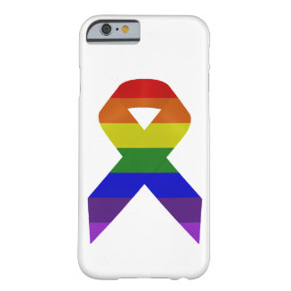 Rainbow Awareness Ribbon Barely There iPhone 6 Case