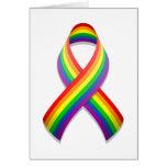 Rainbow Awareness Ribbon Card