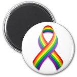 Rainbow Awareness Ribbon Magnet