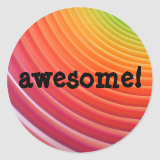 Rainbow awesome sticker sheet
