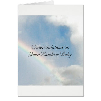 Rainbow Baby Congratulations Card