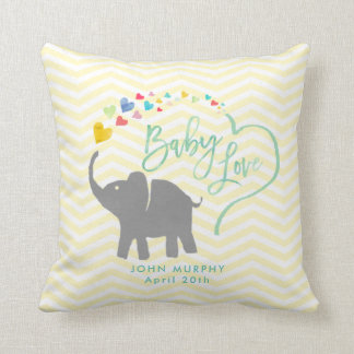 Rainbow Baby, Elephant Baby Love Cushion