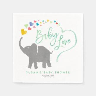 Rainbow Baby, Elephant Baby Shower Disposable Napkin