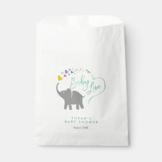 Rainbow Baby, Elephant Baby Shower Favor Bag Favour Bags