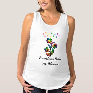 Rainbow Baby In Bloom Maternity Tank Top