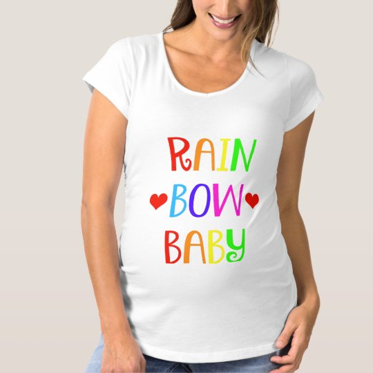 Rainbow Baby Maternity Shirt with Hearts