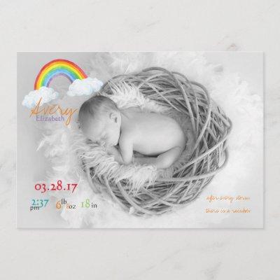 Rainbow Baby Pregnancy Announcement Card Zazzle Co Uk