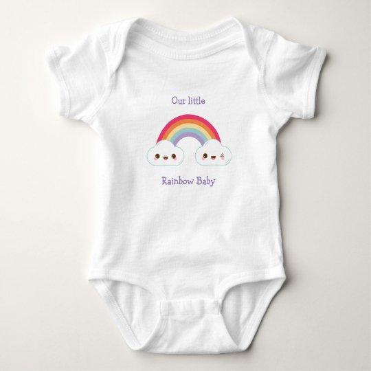 Rainbow Baby Short Sleeve Bodysuit Vest