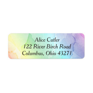Rainbow Baby Shower Return Address