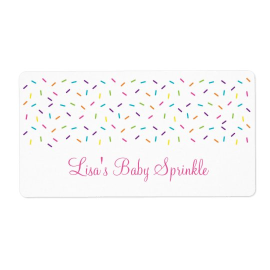 Rainbow Baby Sprinkle Shipping Label