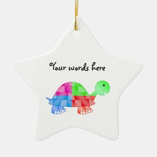 Rainbow baby turtle christmas ornament
