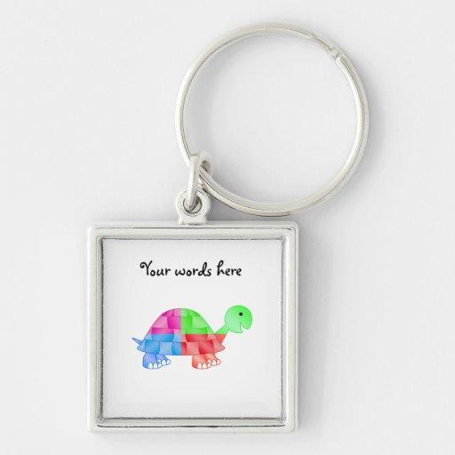 Rainbow baby turtle key chains