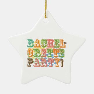 rainbow bachelorette party bridal wedding funky christmas tree ornaments