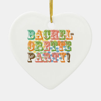 rainbow bachelorette party bridal wedding funky christmas ornament