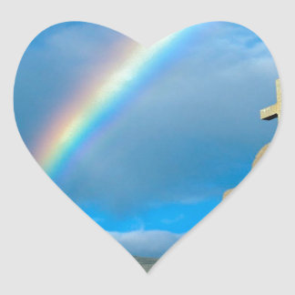 Rainbow Bahia De Los Angeles Mexico Heart Sticker