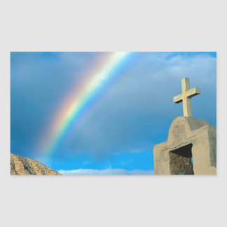 Rainbow Bahia De Los Angeles Mexico Rectangular Sticker